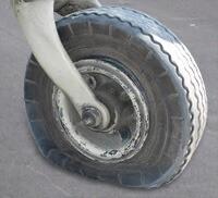 Flat aircraft tire