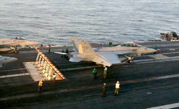 FOD Magnets on an Aircraft Carrier