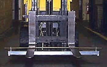 Magnetic Sweeper on Forklift