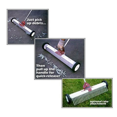 Magnets – Magnetic Broom - Multi-Surface Magnet Sweeper